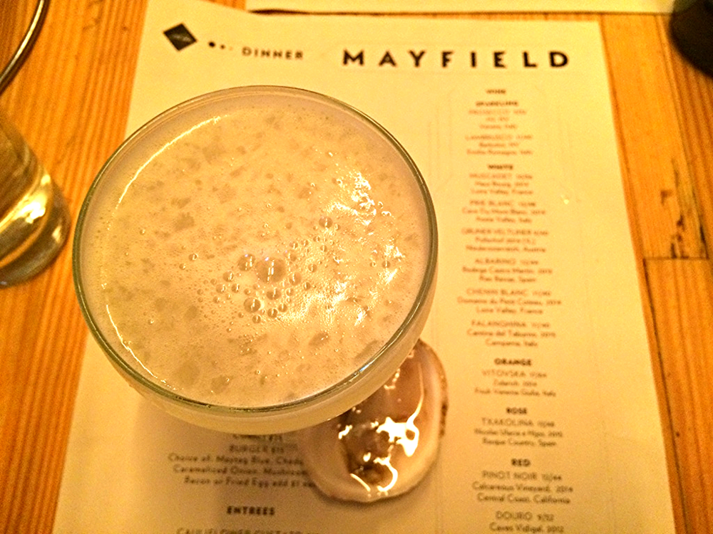 Gimlets and Oysters at Mayfield.