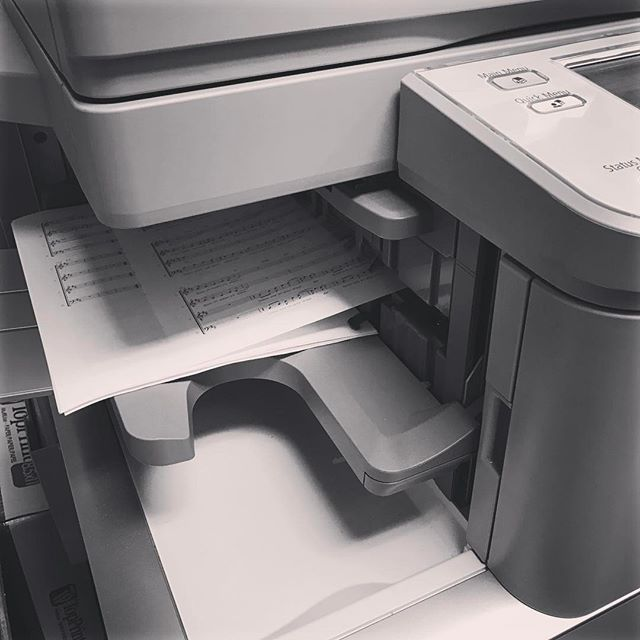 First day of rehearsal means spending time with my good pal photocopier!