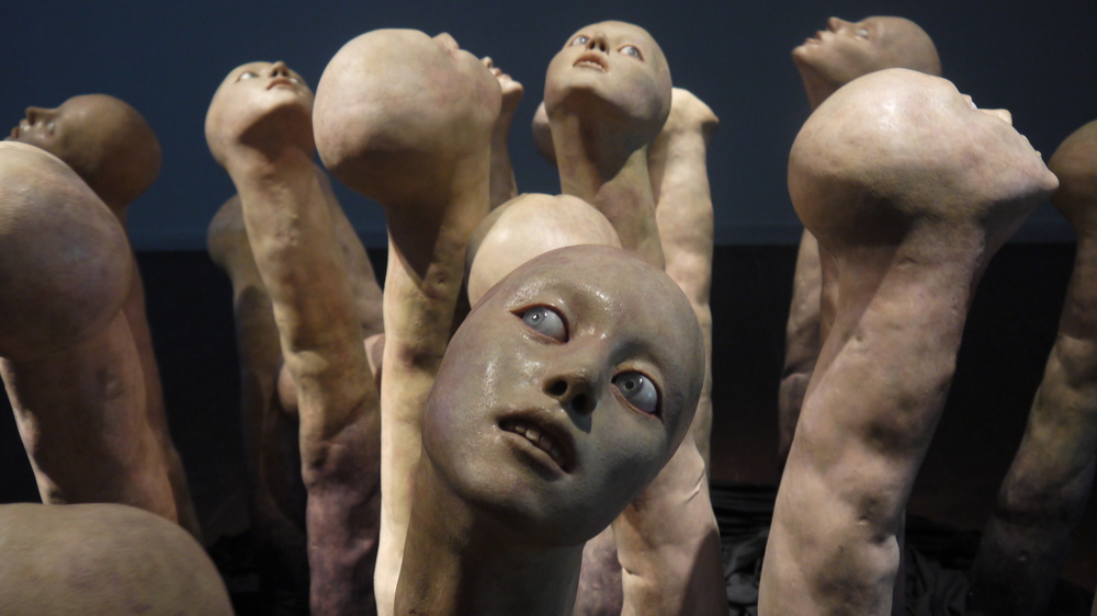 Creepy modern art installation from Seoul