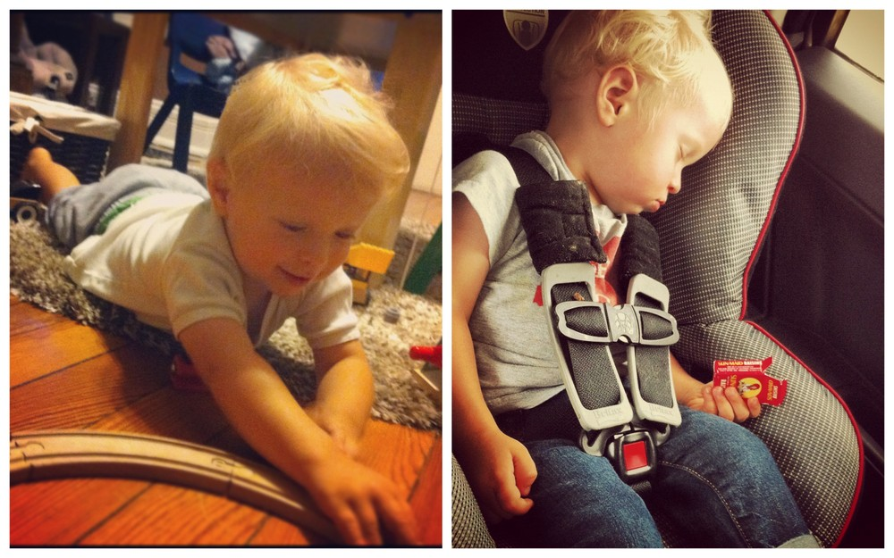Soren with his trains 'choo! choo!' :: giving 200% all the time is  exhausting