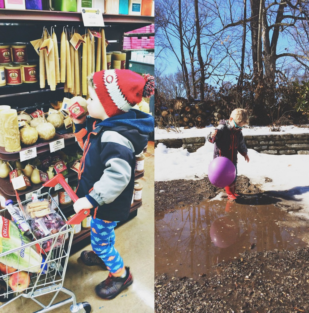 Groceries and Puddles.jpg