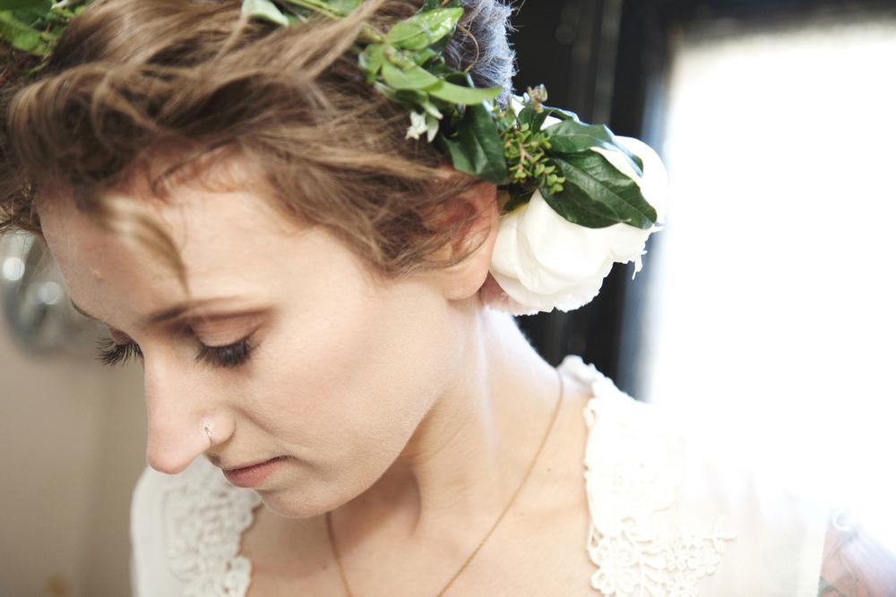 amazing make-up by Amelia Ryczek, crown by Una Floral, my dress - my moms, recreated by Tony King