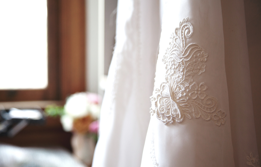 my mom's dress - this lace. Wow.