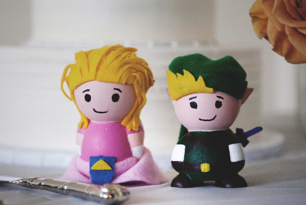 Derek's talent, our Zelda and Link cake toppers. Love these!