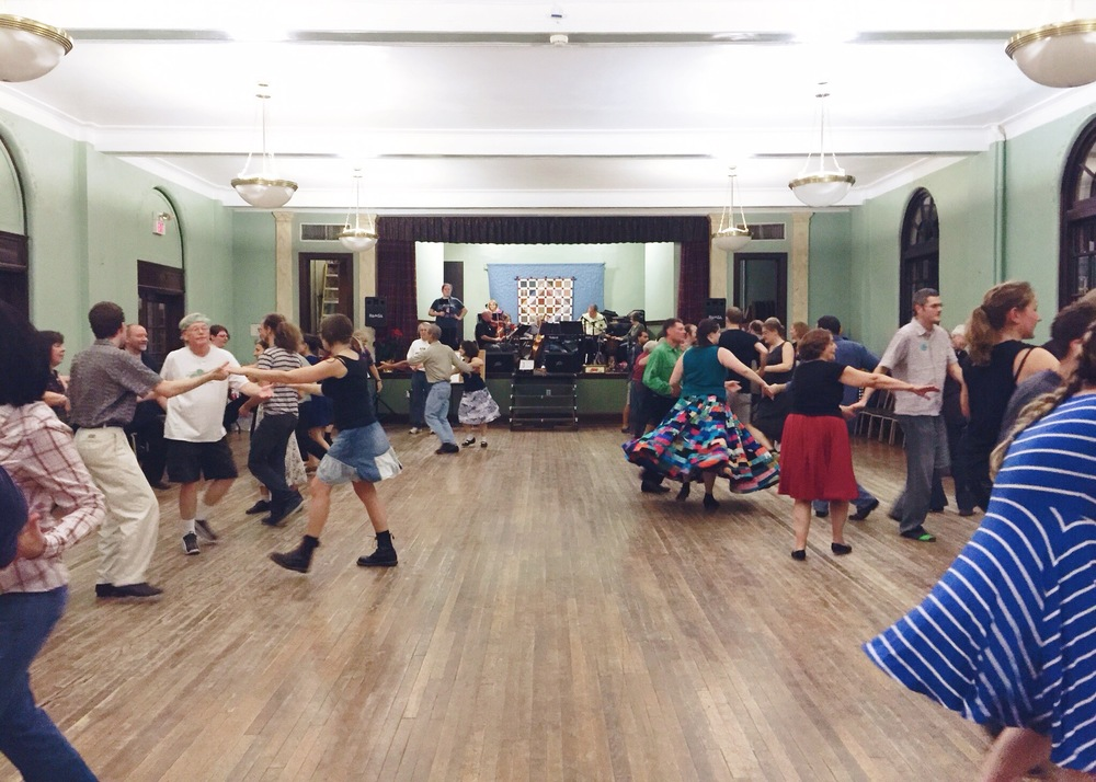 Contra-Dancing after the shindig