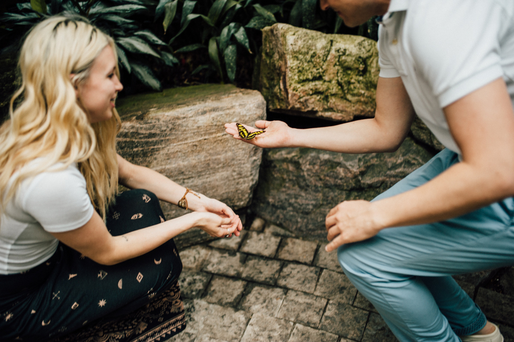 Butterfly engagement session