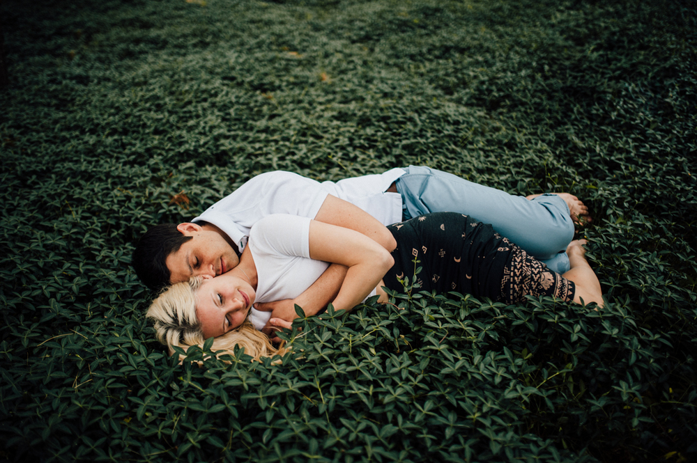 magical nature engagement session