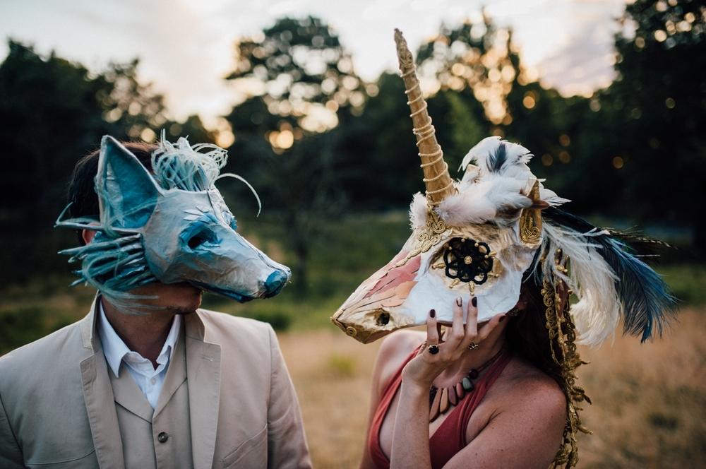 unicorn and wolf