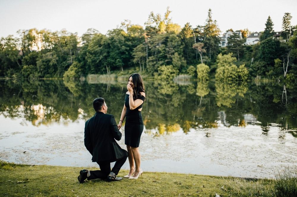 Surprise proposal at High Park