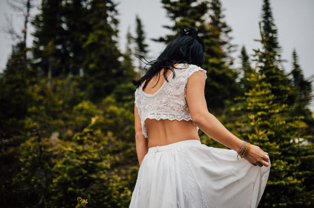 Wedding photography on mountain