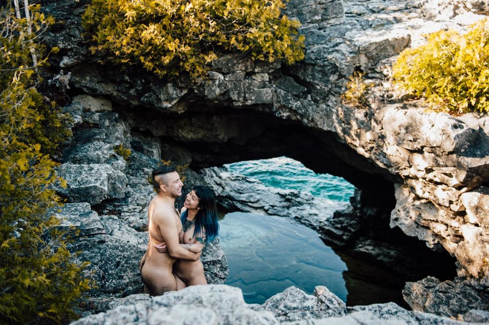 Nude engagement session