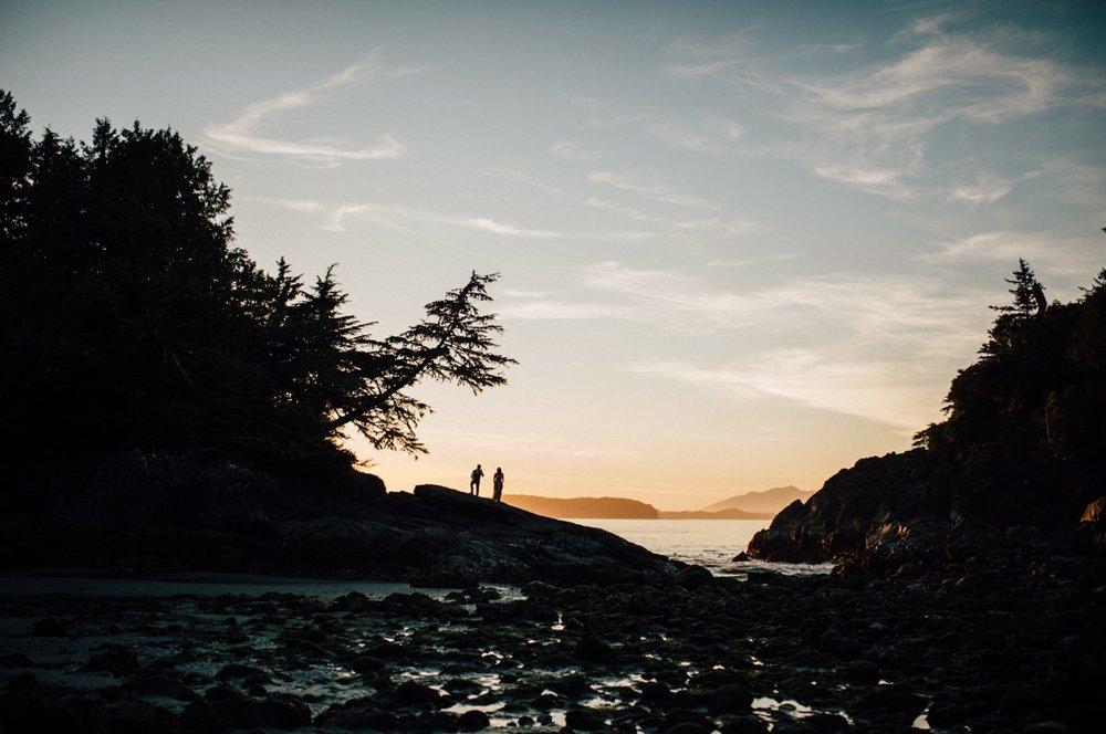 Tofino landscape silhouette