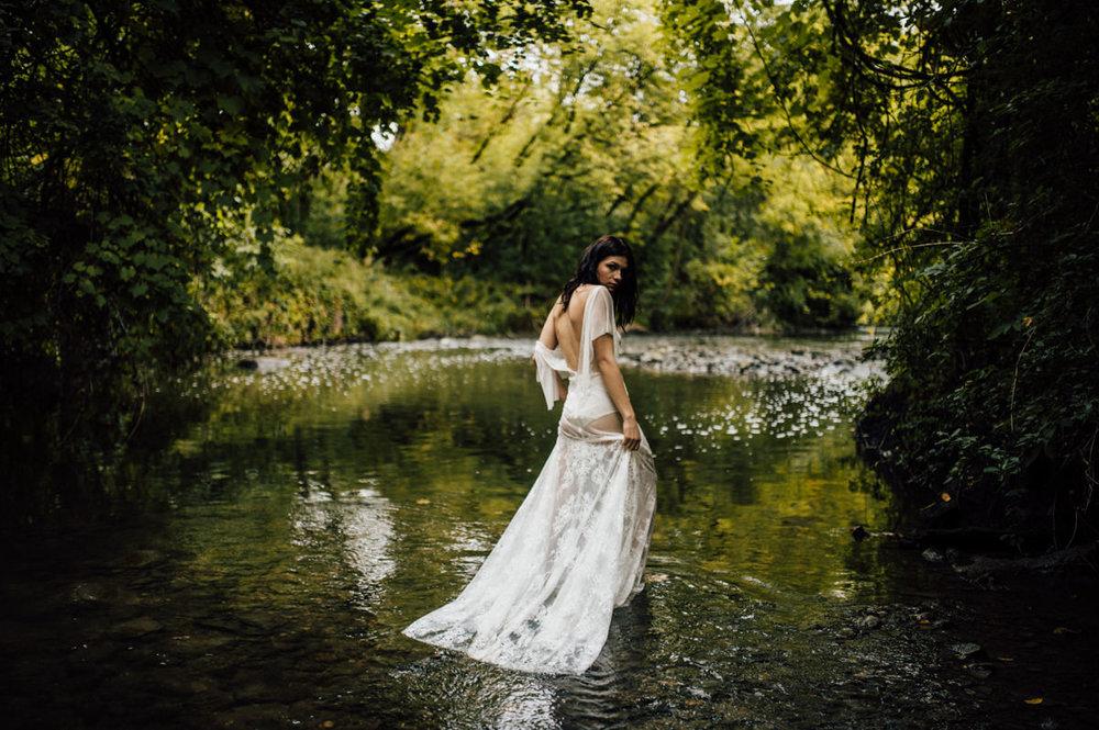 Artistic water bridal