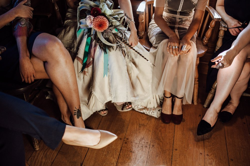 Artistic Toronto bridal party photo