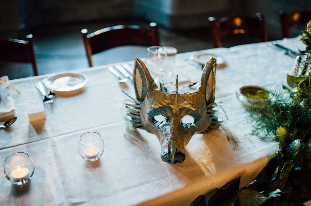 Wolf mask wedding