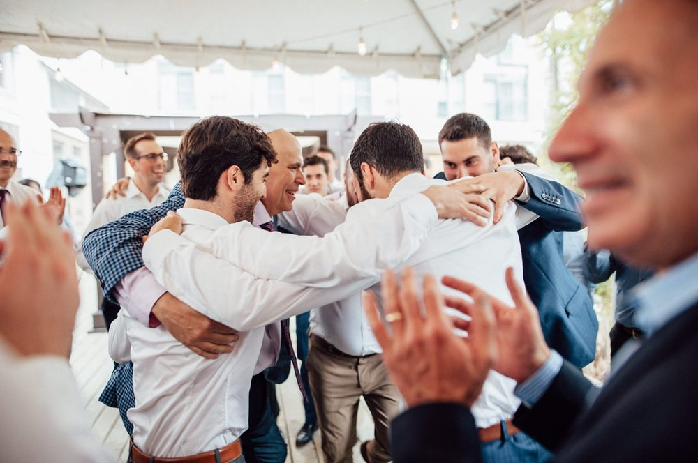 emotional group photos at weddings