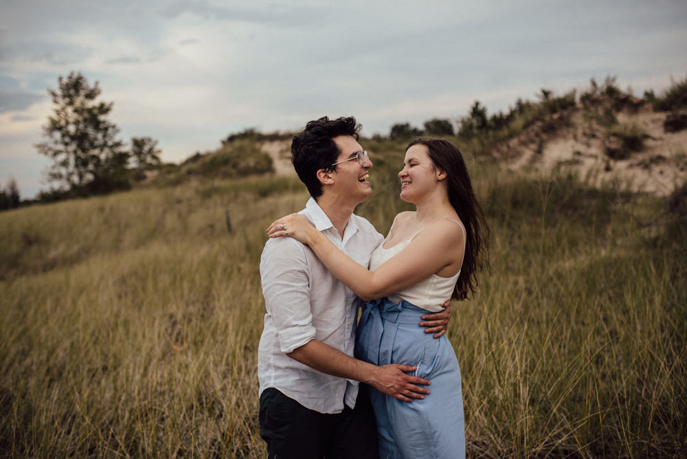 Magical engagement session at a Canadian beach