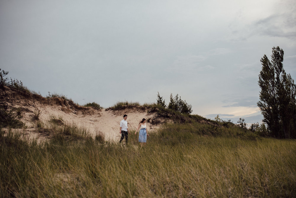 Toronto engagement session on sandy beaches