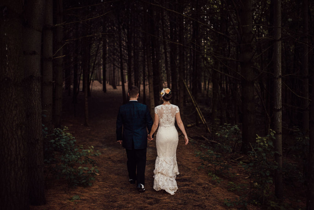 dark and moody toronto wedding photography
