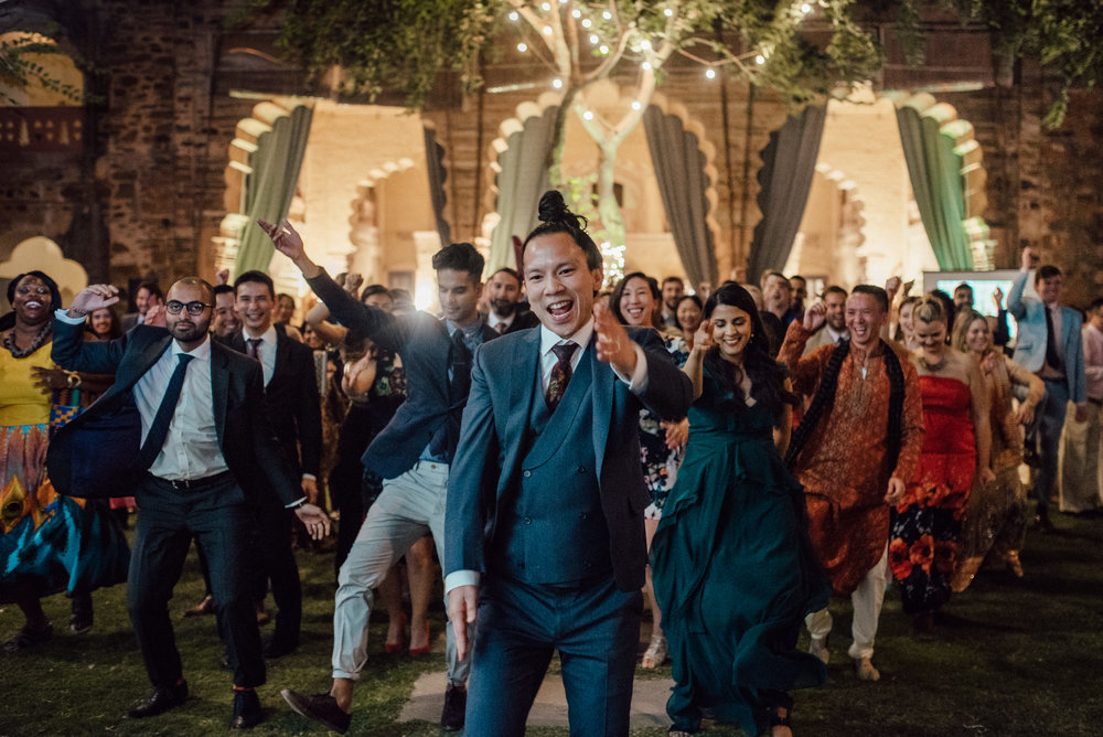 India flash mob at wedding