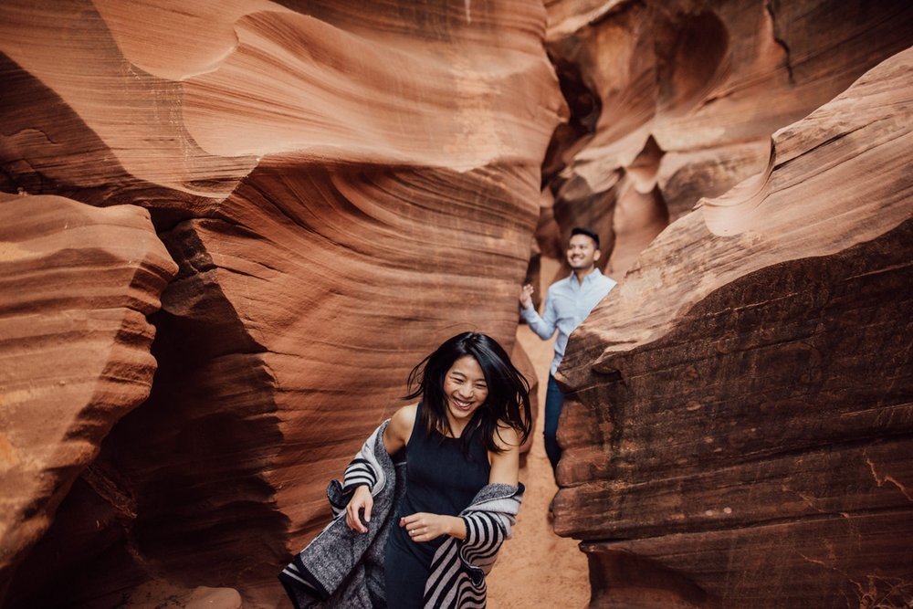 slot canyon engagement
