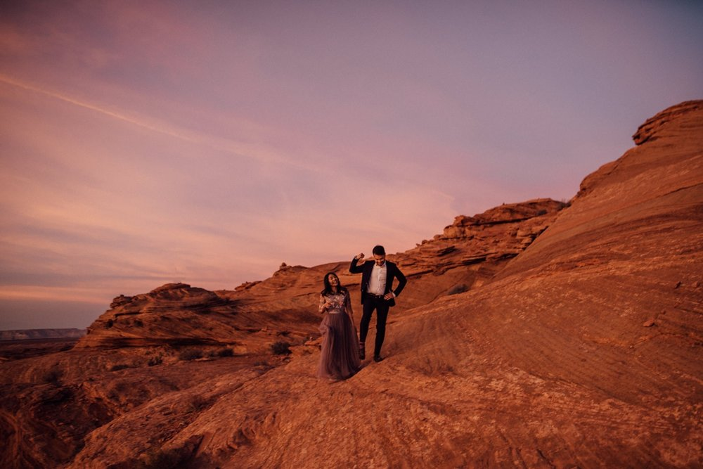 sunset Arizona engagement