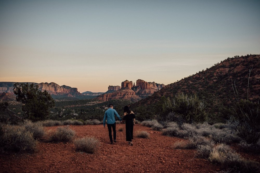 artistic sedona engagement photos