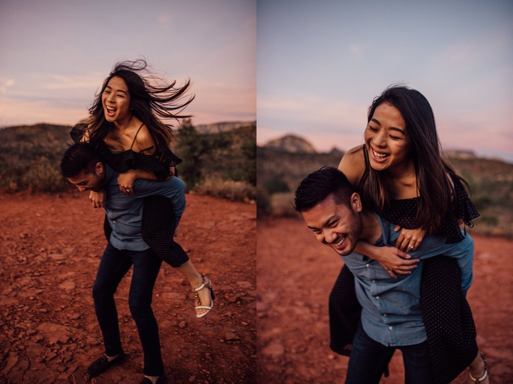 Artistic Sedona engagement shoot