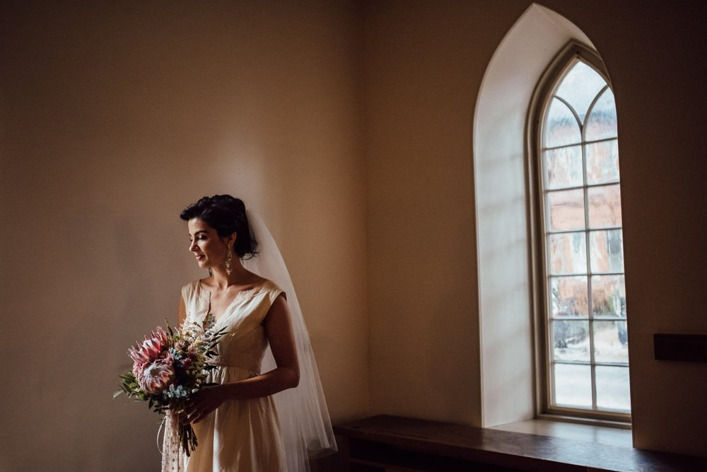 distillery district bridal portrait