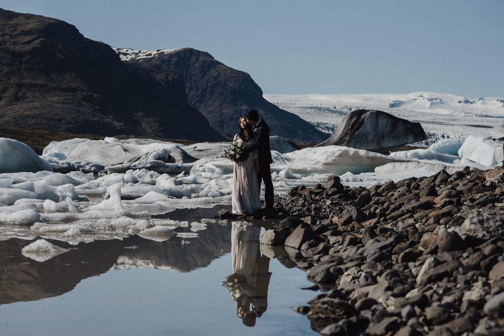 Glacier elopement Iceland