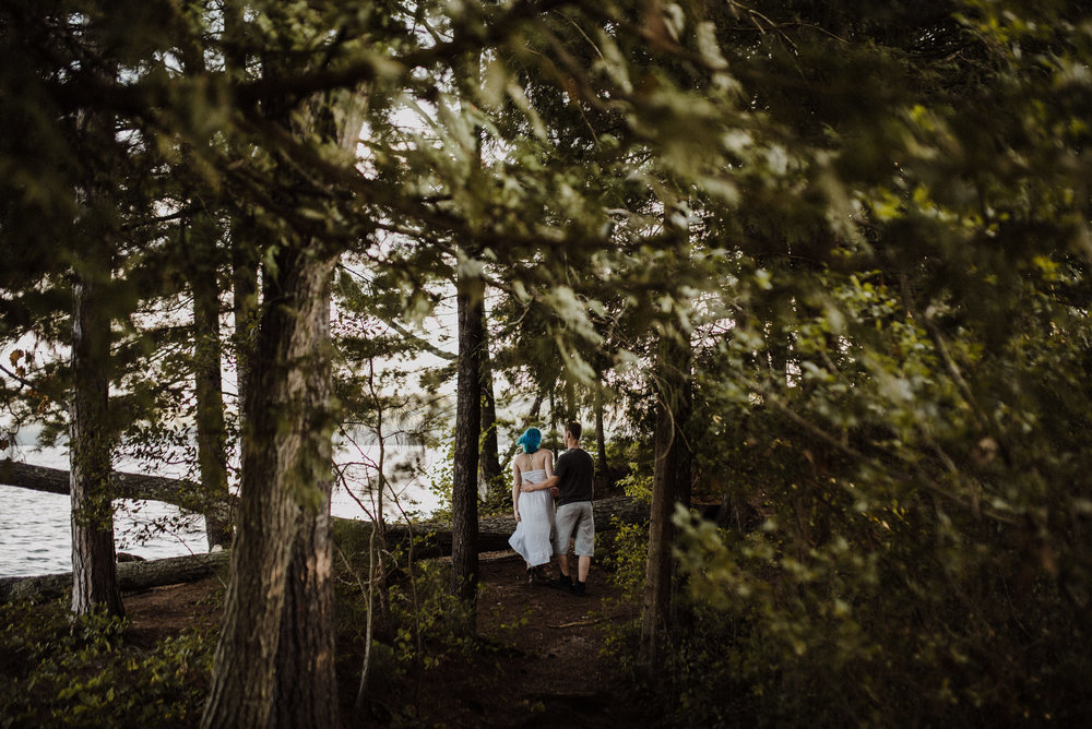 Bon echo engagement session
