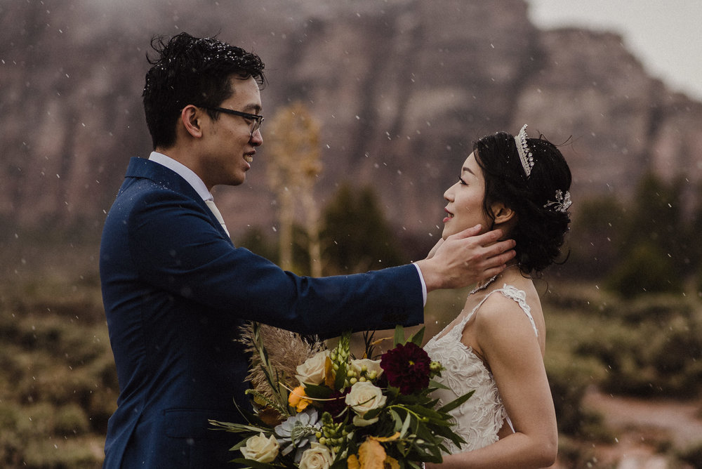 chinese couple elope in zion