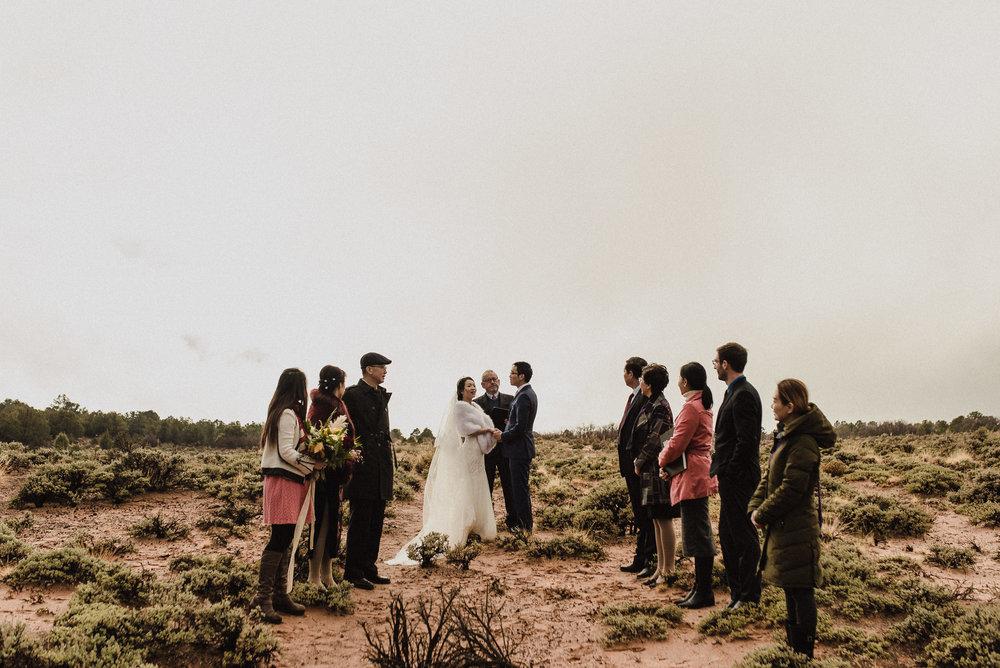 intimate elopement ceremony