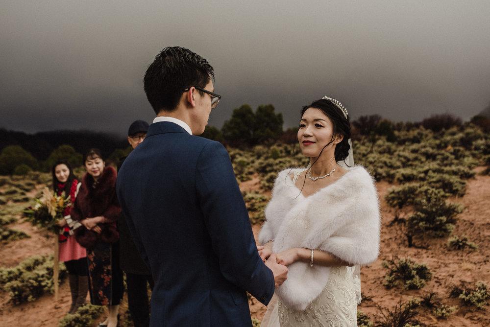 very intimate outdoor elopement