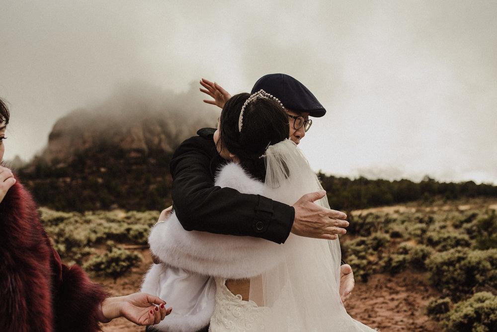 winter zion wedding