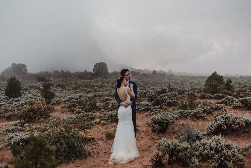 outdoor wedding ceremony in zion
