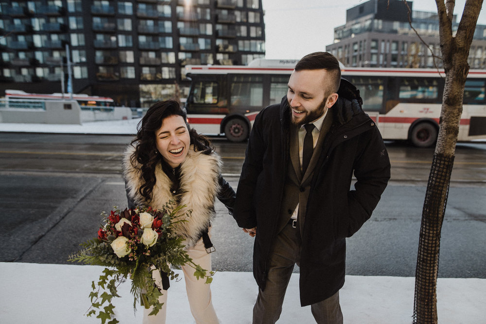 candid toronto city hall wedding