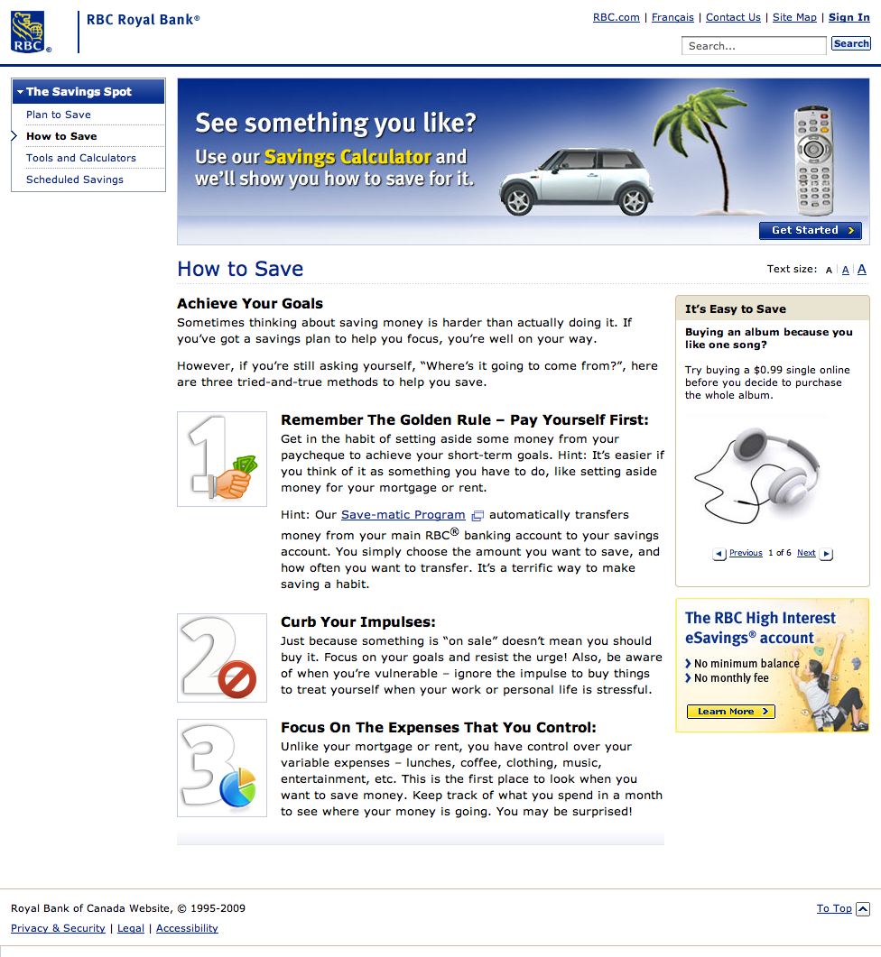 How to Save - The Savings Spot - RBC Royal Bank (20090117).png