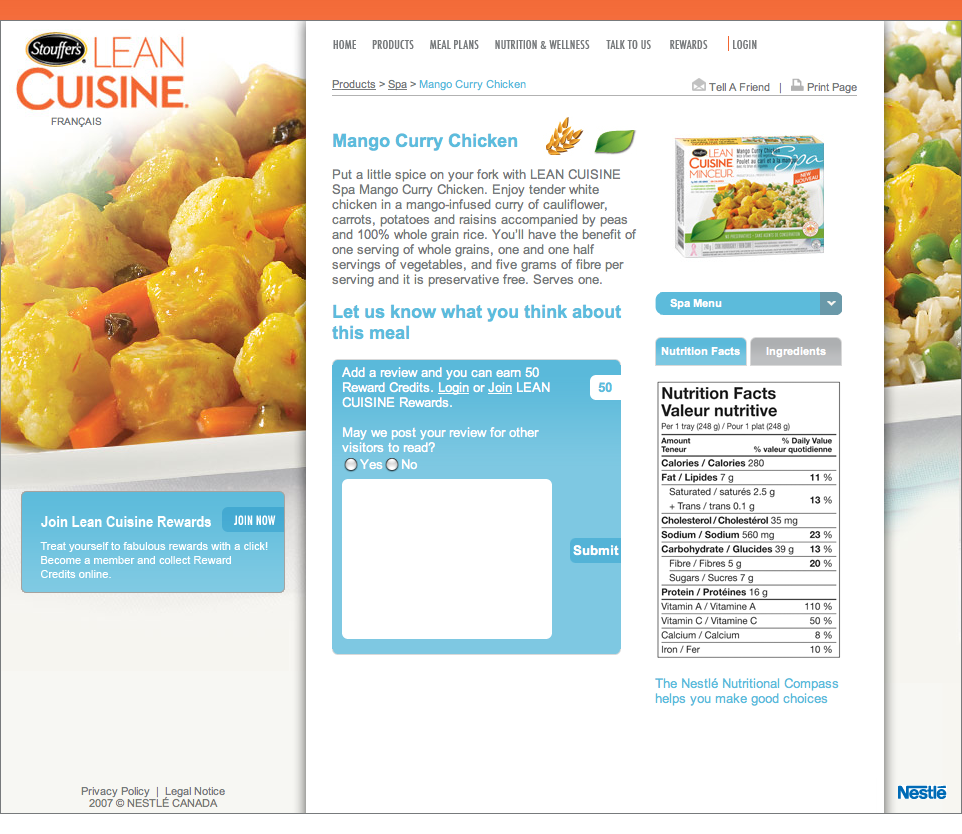 Nestlé - Mango Curry Chicken (20081111).png