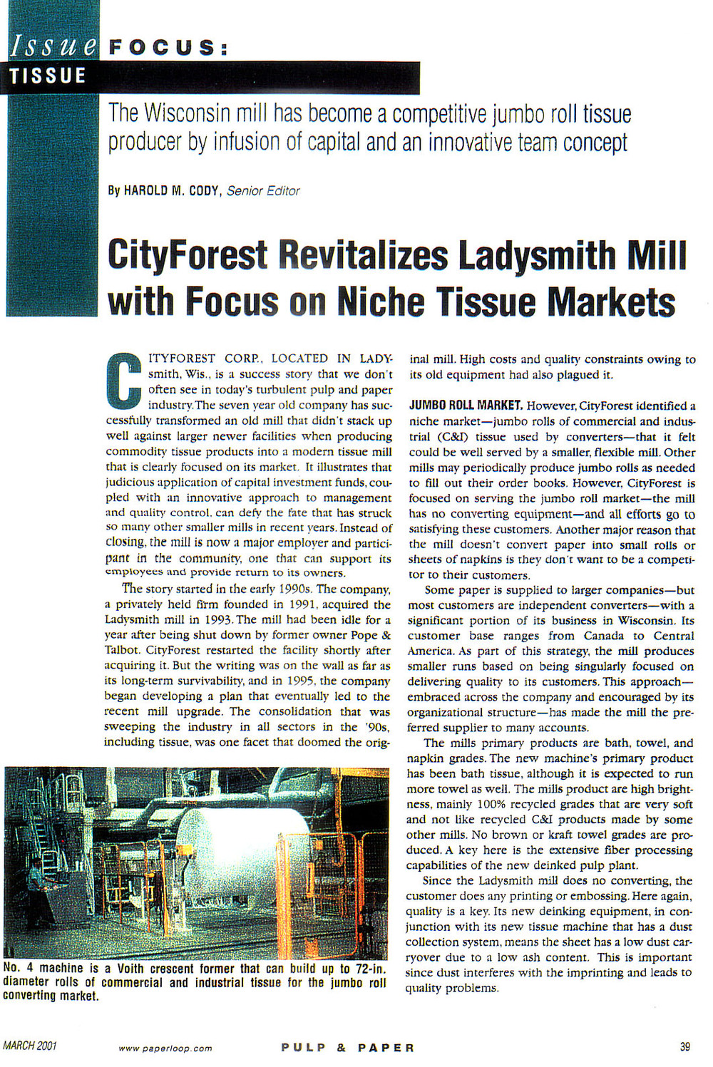 pulp & paper-march 2001-city forest revitalizes ladysmith mill with focus on niche tissue markets  page 1.jpg