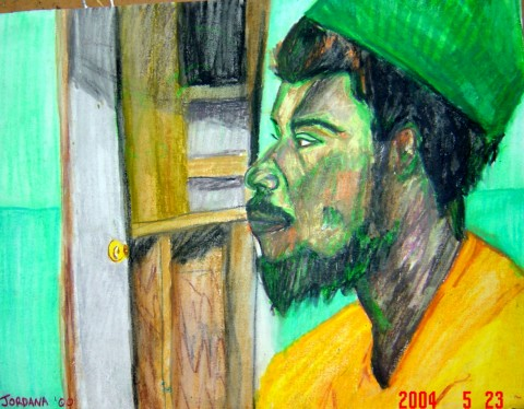 NIGHTLIGHT     2000  , Shabba a local from King's Town in Providenciales, Turks and Caicos   .      ARTIST'S COLLECTION    Watercolor crayon on paper