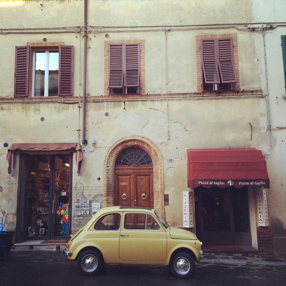 Fiat 500, Montalcino, Tuscany