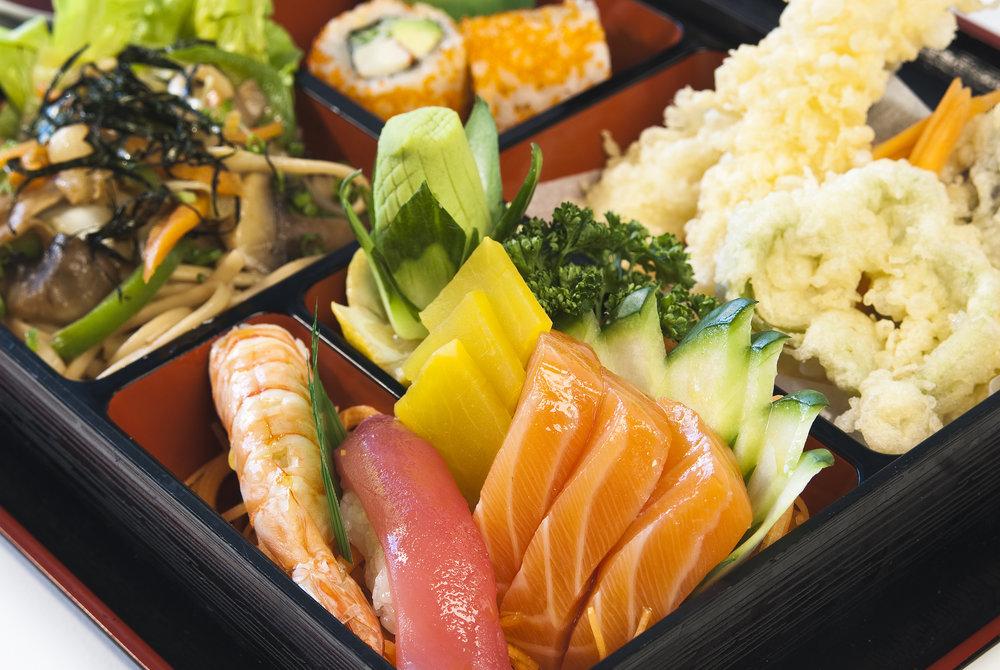 Bento Box, Bento Meal, Bento, Sushi, Sashimi, Tempura, Oishi, Food, Sea Food, Japanese Mix, Japanese Food, Japanese Bento