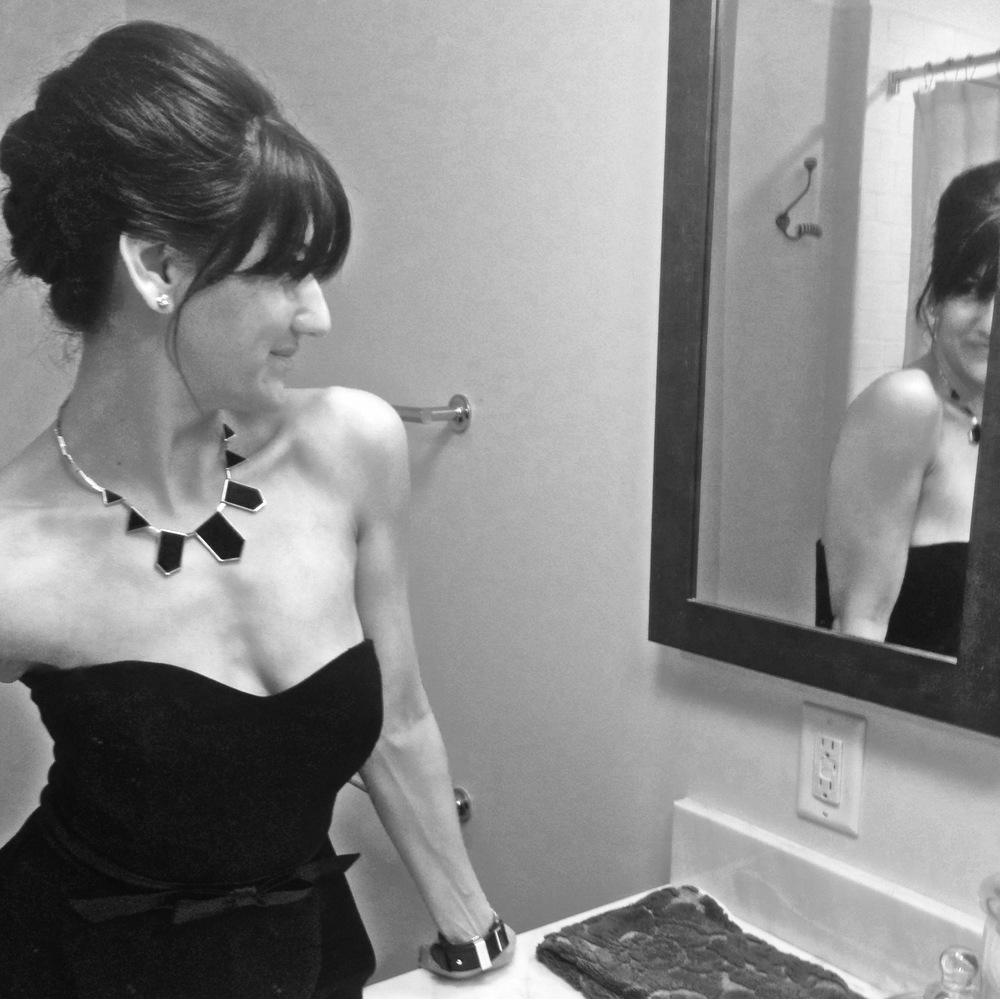 :: getting ready. side view of my updo ::
