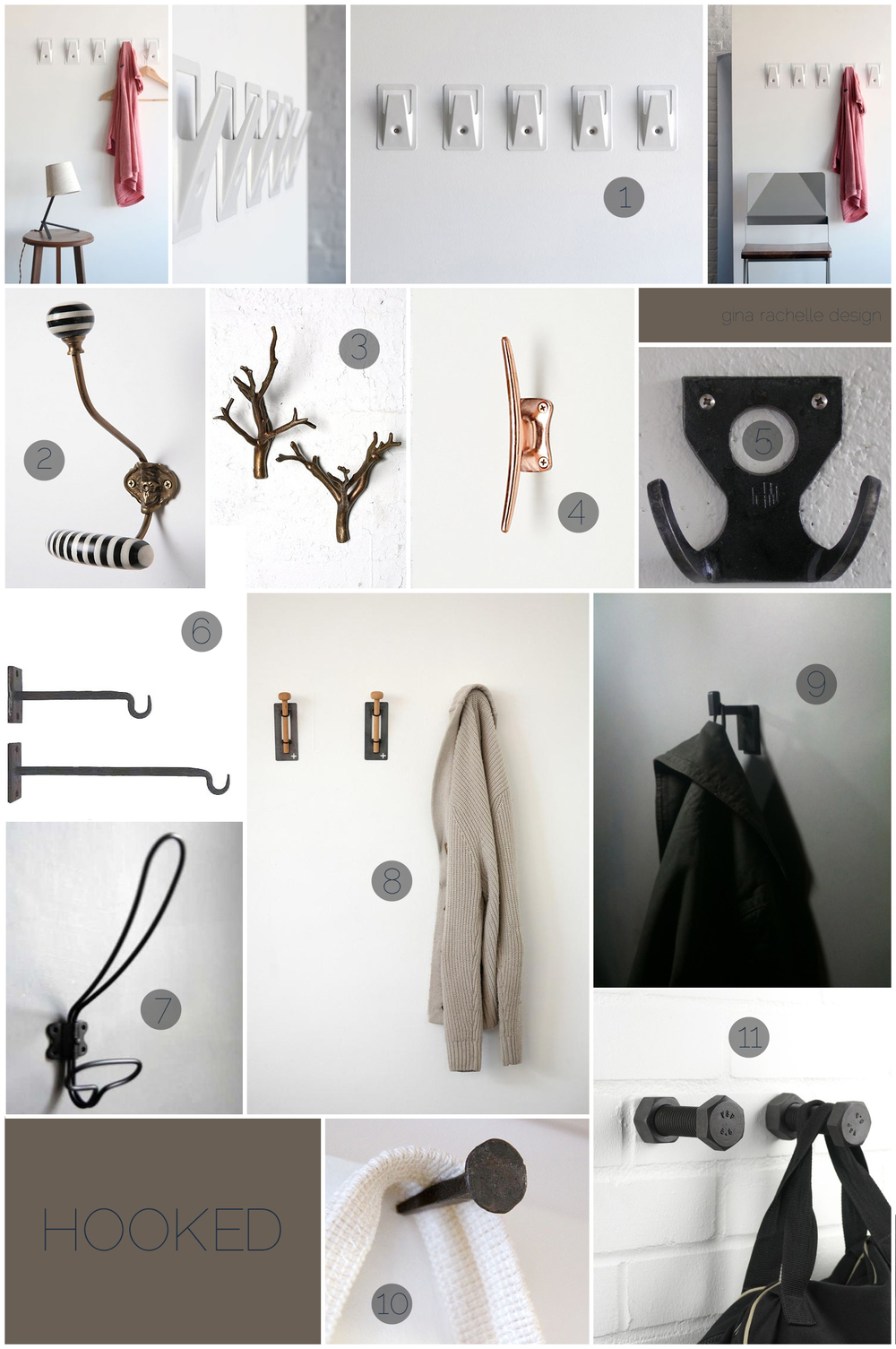 :: beautiful + industrial hooks selected by GRD ::