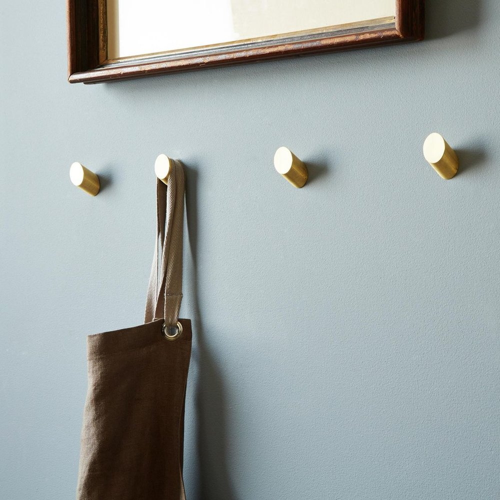 Brass Round Wall Hooks, Set of (4) via  Food52  ($180)