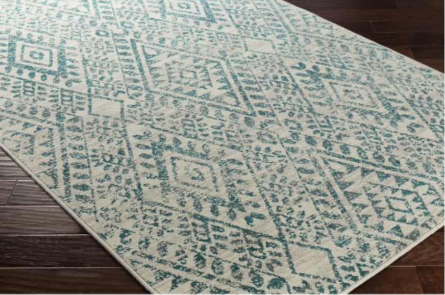 River Drawn Rug, Teal via Lulu & Georgia (7'10x9'10 $668 | 8'10x12'9 $980)