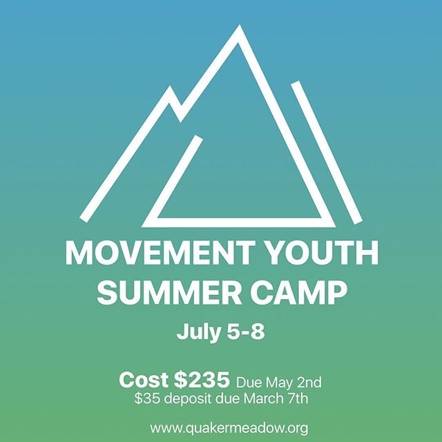 Summer Camp is coming! #capay #orland #friendschurch #summercamp #quakermeadow