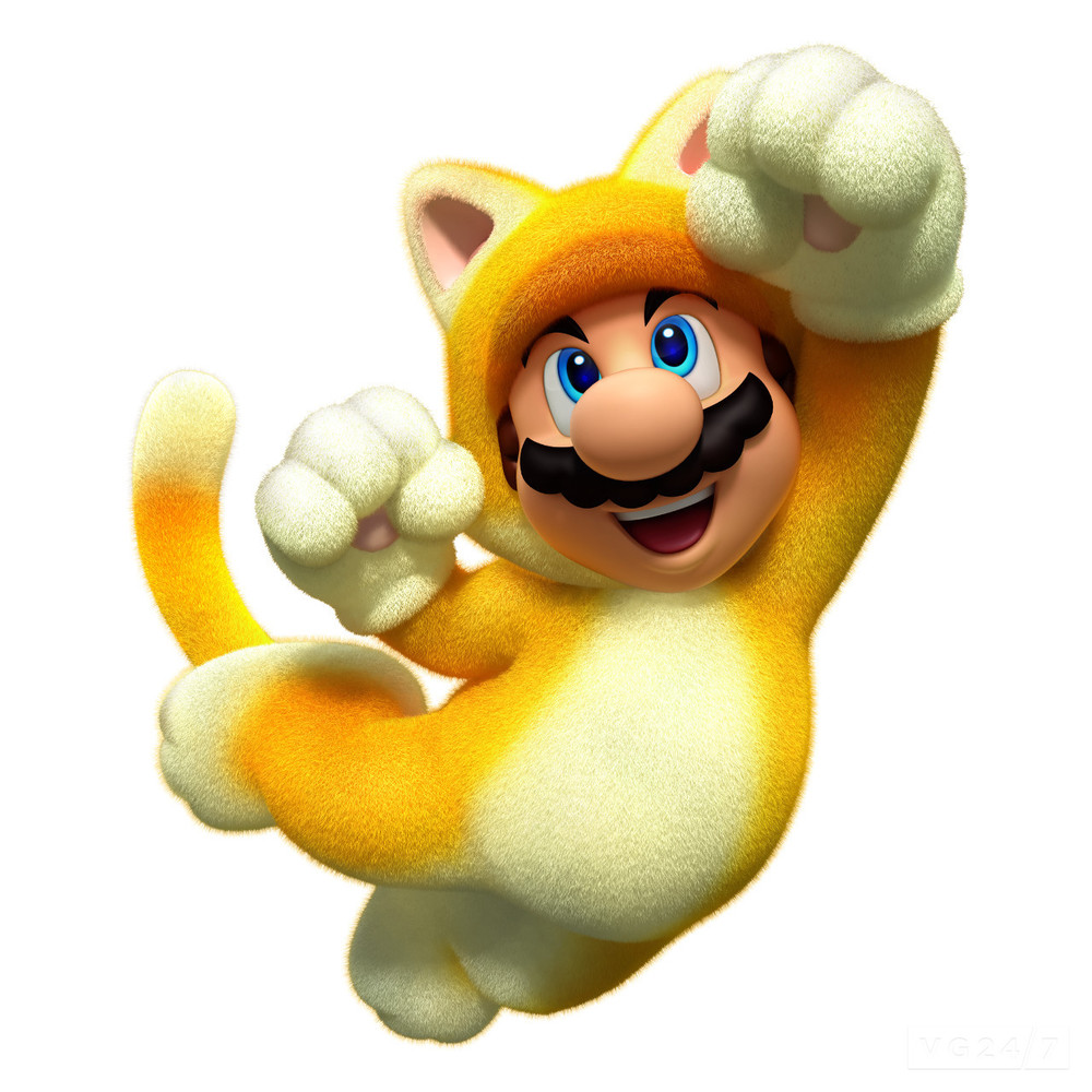 The upcoming Mario 3D World lets users play as a catlike character for the first time.