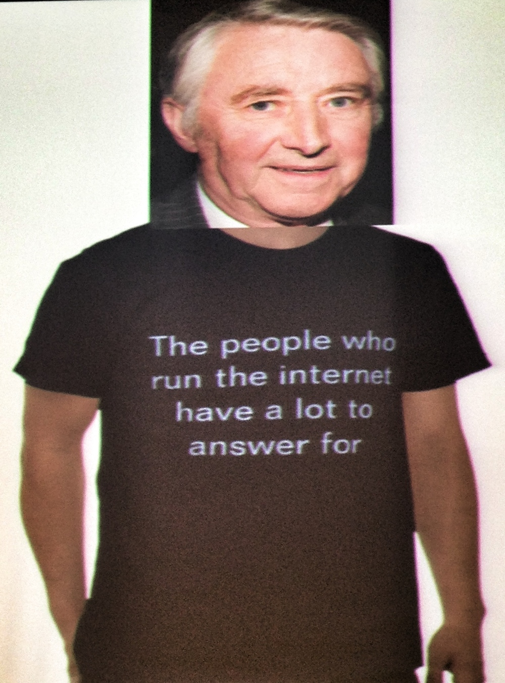 Russell Buckley's David Steel T-shirt